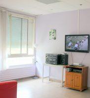 L'espace TV du pavillon Yvie